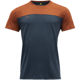 Devold Norang T-Shirt Men, brick melange/night